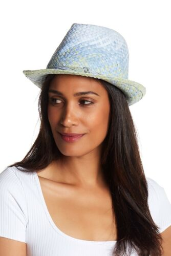 Tommy Bahama Women/'s Blue Green Bon Voyage Fedora Sun Hat Travel Packable O//S