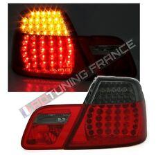 2 FEUX ARRIERE LED BMW SERIE 3 E46 COUPE PHASE 2 DE 04/2003 A 2006 ROUGE NOIR