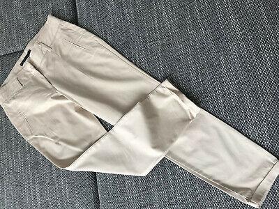 *** Zara Basic Chino Pant Casual Pantaloni Jeans Nude Taglia 38 Tessuto Fashion Tubi ***-