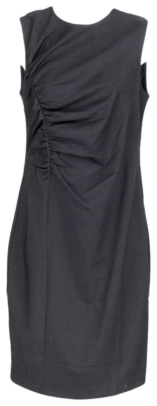 J Crew Woherren Ruched Ponte Sheath Dress Wear to Work Suiting schwarz LBD 6 K2197
