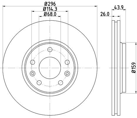For Renault Grand Scenic MK3 2009-2016 Front 296mm Brake Discs /& Pads Unipart