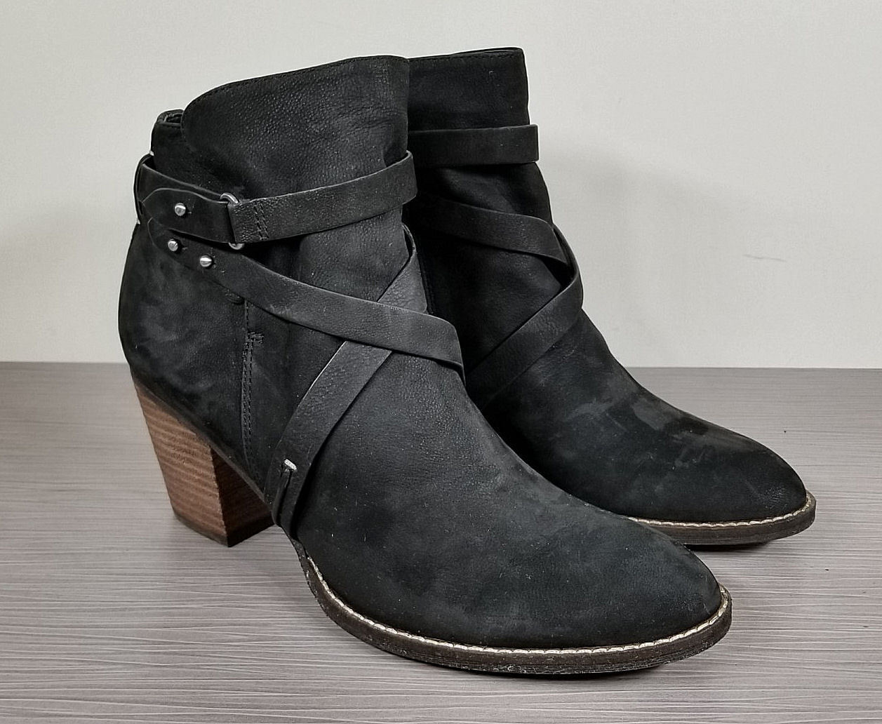 Sam Sam Sam Edelman Merton Bootie, Black Leather, Womens Size 9.5 M 5aede6