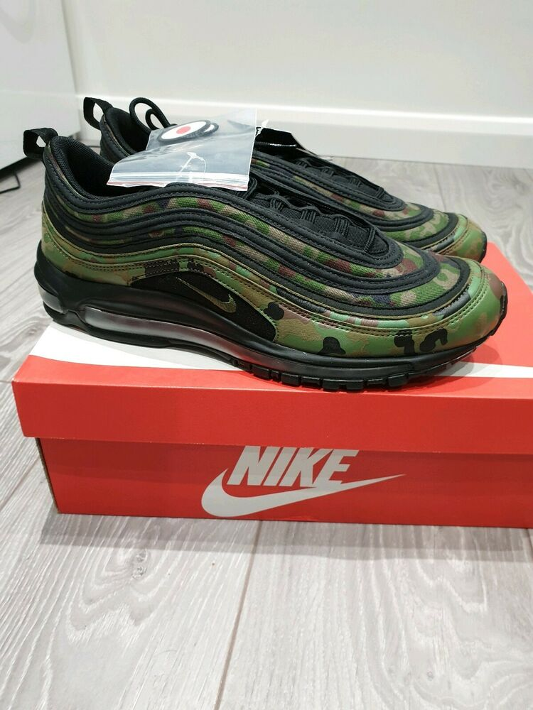 * Rare * Homme 100% Authentique Nike Air Max 97 Camo Japan Taille Uk 11