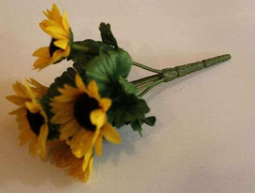 5cm; L Bastelblume dekoblume girasol amarillo 5 flores//federal d 15 cm