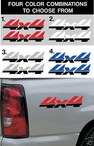 Universal 4x4 Vinyl Decal Chevy Truck Accessories 2-4x4 Decals Stickers