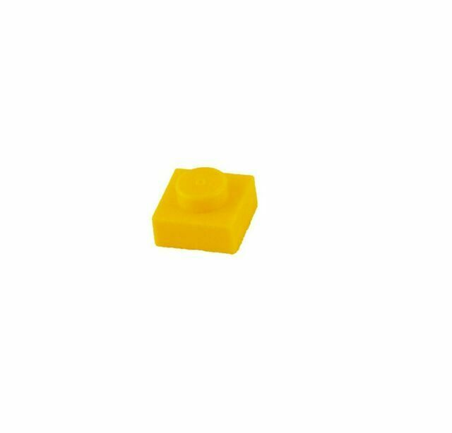 LEGO Lot of 4 Translucent Yellow 1x1 Flat Tile Pieces