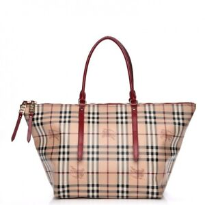 36950587faa5 Image is loading BURBERRY-HAYMARKET-CHECK-SALISBURY-BAG-WOMENS-TOTE