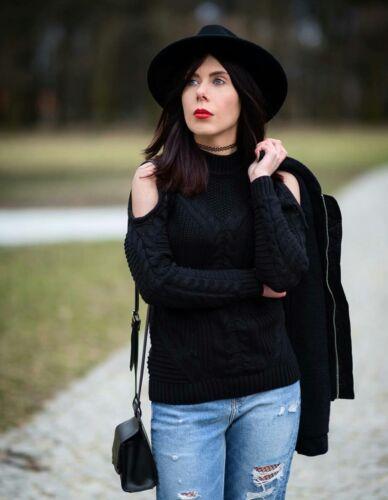Taille H Noir pull Blogueurs en 100 laine Tendance d'agneau m Uk18 Noir vendu qa6SF4