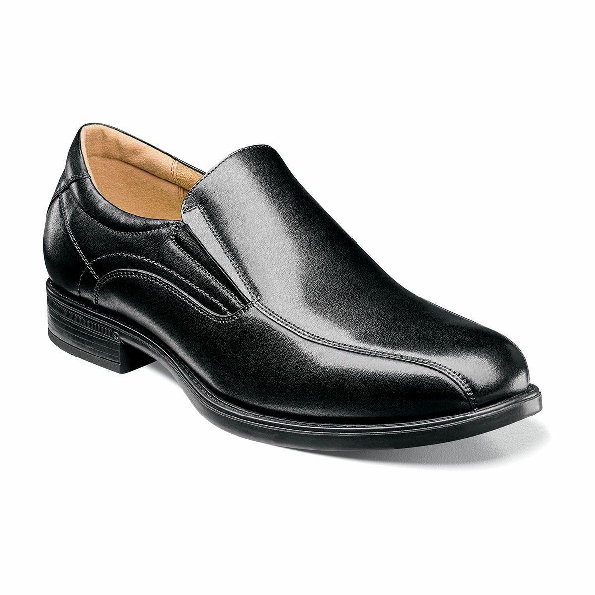 Florsheim Men's Men's Men's Midtown Bike Toe Loafers Leather shoes Black 12166-001 750bb1