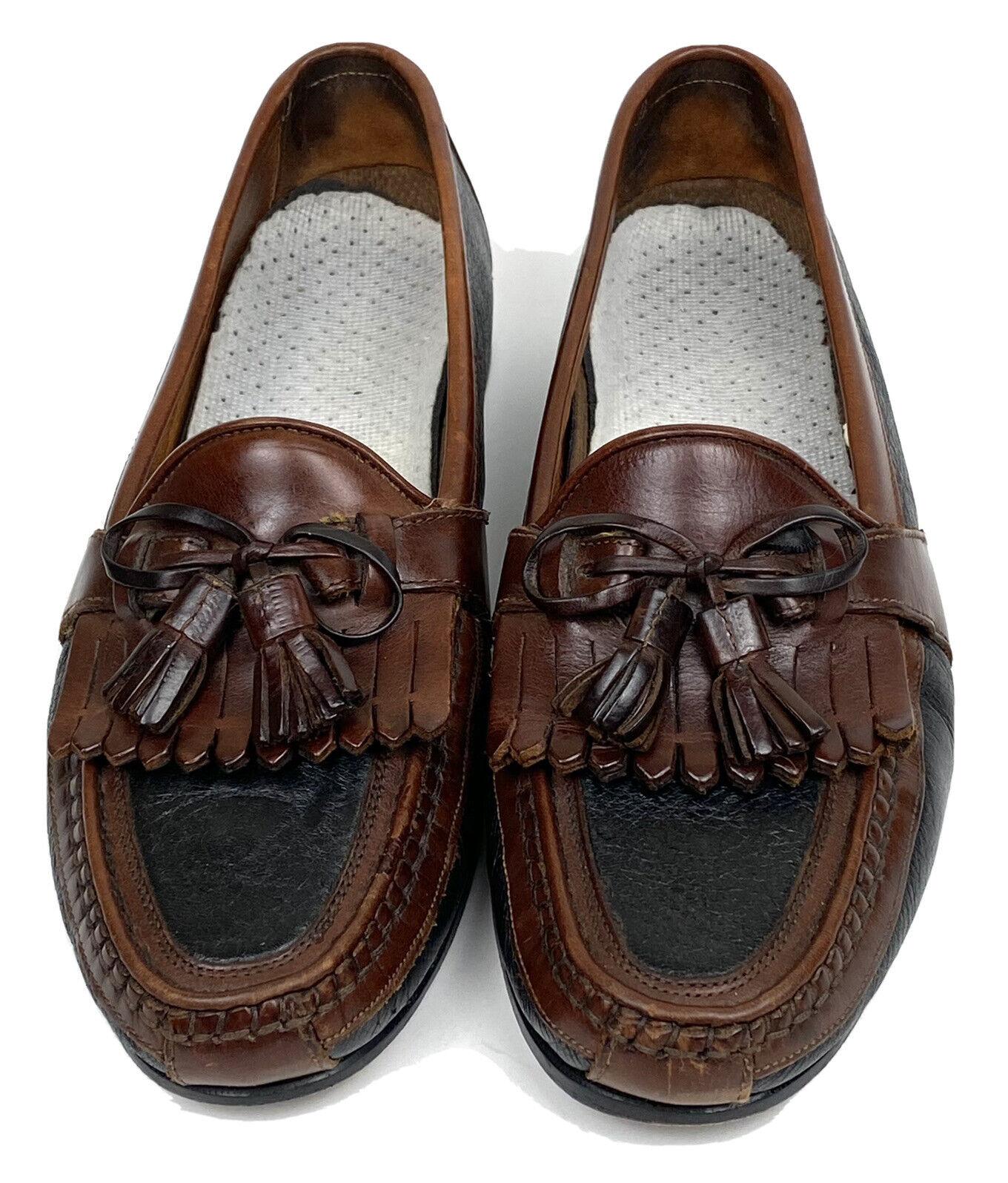 Johnston & Murphy Men's Aragon II Kiltie Tassel Loafer Black / Chestnut 10.5 M