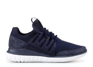 7c210ad2d664 Adidas Originals Tubular Radial Men s Trainers Shoes - AQ6725 - Navy ...