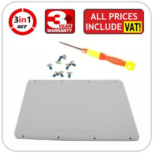 A1342-Apple-MacBook-13-034-Unibody-Bottom-Case-Rubber-Lid-Cover-Door-2009-2010