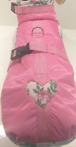 Raincoat Xs S M Tissu imperméable Raincoat coeur rose Chihuahua Chiens