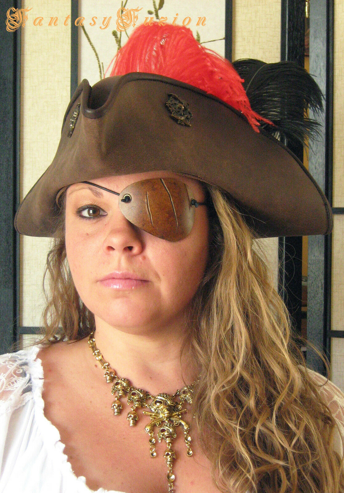 Pirate Scratches Cuts Leather Eye Patch Cosplay