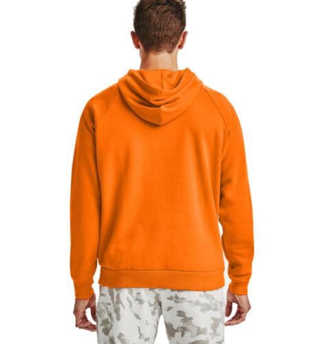 Under Armour Rival Fleece Big Logo Hoodie Vibe Orange Lapuzenpullover Sport