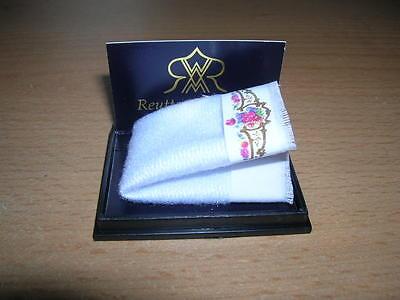 Reutter Porzellan Handtuch Dresdener Dresden Rose Hand Towels 1:12 Puppenstube