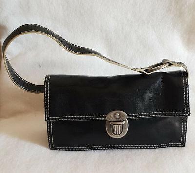 Guess Da Donna Borsetta piccola nera borsa a Tracolla Baguette borsa DI METALLO ABBELLIMENTO | eBay