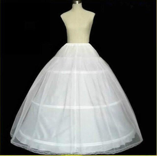 f634e95886f66 White Petticoats 3 Hoop Wedding Gown Crinoline Petticoat Skirt Slip Dress  New US