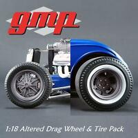 Gmp 18864 1:18 Altered Drag Wheel & Tire Pack 1:18