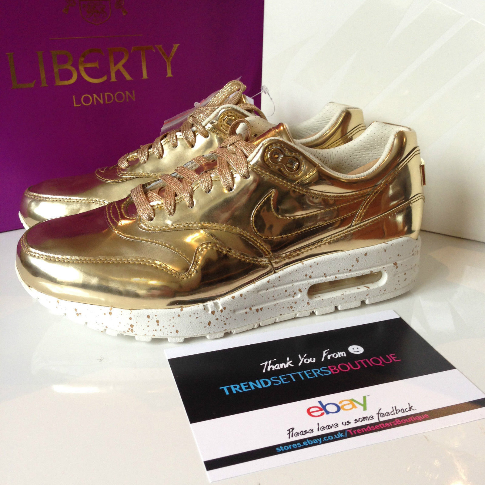 NIKE AIR MAX 1 SP GOLD SP LIQUIDO METALLICO SP 1 METALLO ARGENTO 47fe6f
