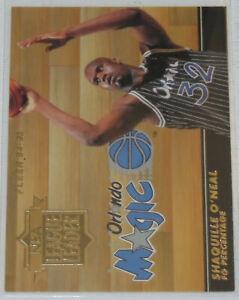 1994-95-Shaquille-O-039-Neal-Orlando-Magic-Fleer-NBA-League-Leader-Insert-Card-5-NM