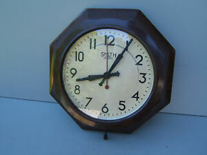 Smiths-Bakelite-wall-clock-octagonal-12-034-x-3-034-30x7-5cm-electric-UNTESTED-Bak6