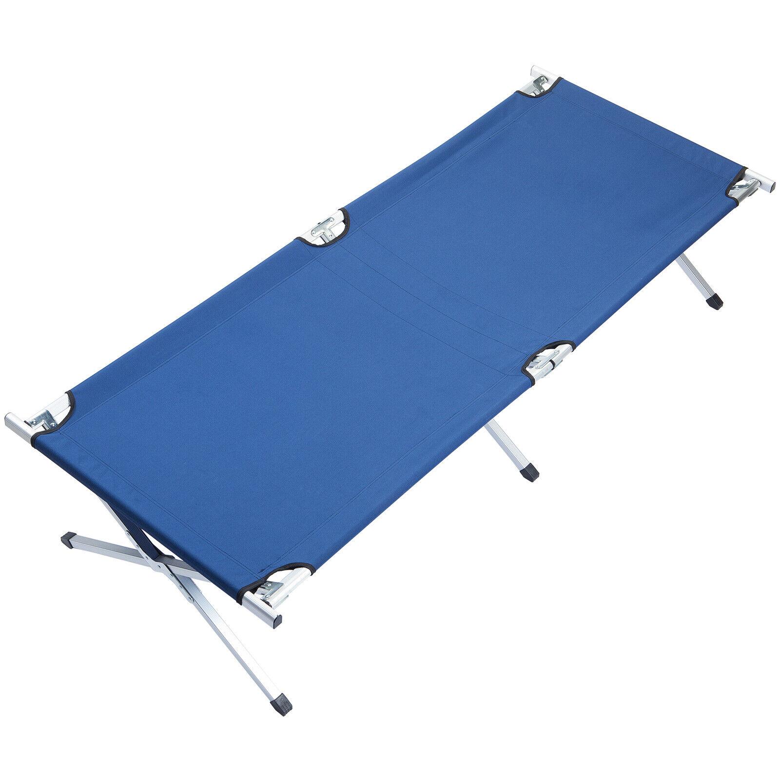 Skandika camatumbona camping aluminio 210x80cm 120 Kg plegable blu nueva