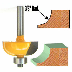 "1 pc 1/4 SH Convex Cove with 3/8"" Radius 1/2"" High Router Bit S"