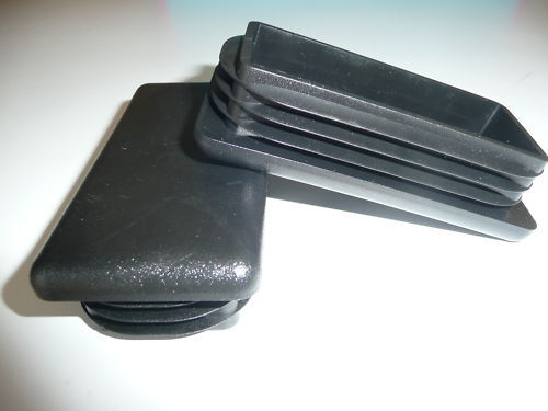 1 Black Plastic Blanking End Cap 100mm x 50mm Rectangle
