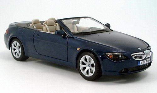 BMW 645 CI E63 CABRIOLET 2004 DARK bleu bleu bleu METAL MAISTO 31111 1 18 bleu BLEU 7238b3