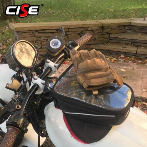 Guantes De Cuero Motociclista Hombres Nudillo Duro Impermeable Pantalla Táctil