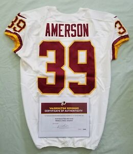Details about #39 David Amerson of Redskins NFL Game Used Jersey & Unwashed vs. Falcons W\COA