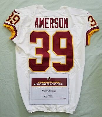 #39 David Amerson of Redskins NFL Game Used Jersey & Unwashed vs. Falcons WCOA | eBay