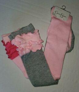 2-Pr-Jessica-Simpson-Ladies-Polyester-Over-The-Knee-Socks-w-Ruffles-4-10