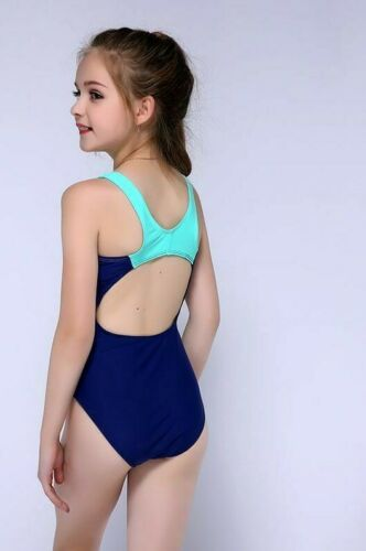 Girls Summer Sport Swimwear One Piece Bathing Suits Fashionable Kids Teens Wears