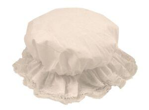 LADIES-WHITE-MOP-CAP-HAT-VICTORIAN-MAID-TUDOR-GIRL-FANCY-DRESS-COSTUME-ACCESSORY