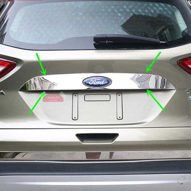 Chrome Trim Rear Trunk Lid Cover For Ford Kuga Escape MK2 2013 2014 2015 2016