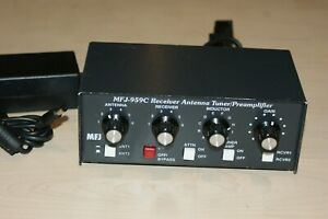 MFJ-959C HF/SWL Receive Antenna Tuner Preamplifier w/AC Adapter