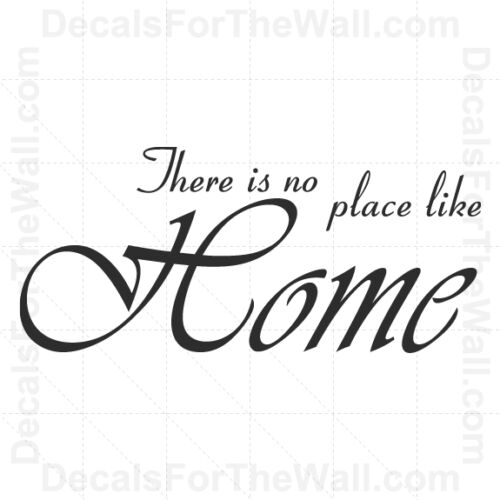 There is No Place Like Home Family Wall Decal Vinyl Art Sticker Quote Saying F85