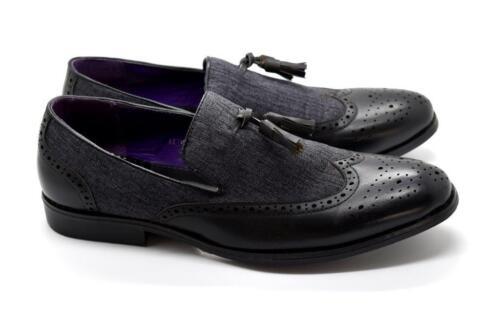 New Men's Tassel Bow Slip-On Formal Party Dress Italian Suit Shoes UK SIZES 6-11