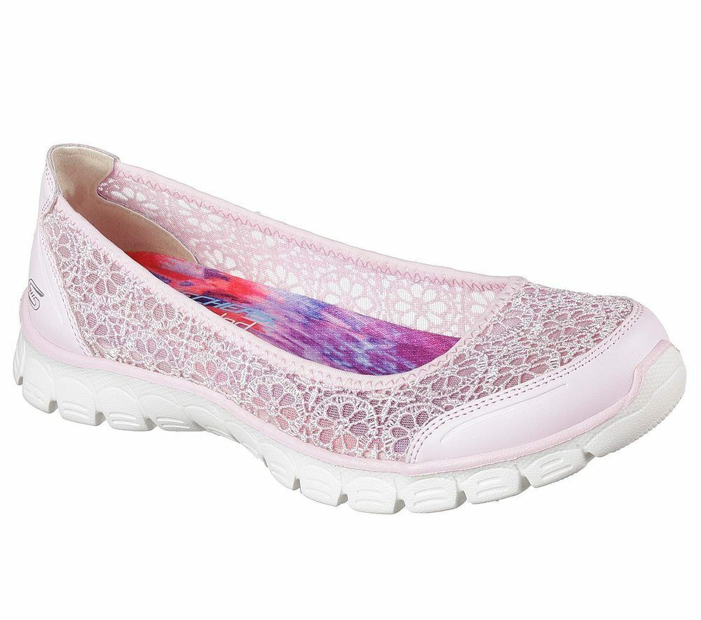 NUOVO Skechers Da Donna Ballerine slipper estate scarpe estate slipper EZ FLEX 3.0 - MAJESTY Rosa e767c9