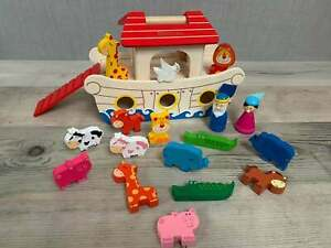 Personalised-Noah-s-Ark-Playset-Wooden-Toys-Birthday-Gift-Christmas-Toy