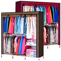 Bedroom Storage Clothes Armoire Shelving Rack Closet Wish Wardrobe Cabinet C16v9