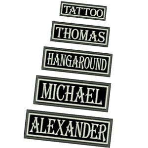 CUSTOM-NAME-TAG-BIKER-PATCH-IRON-ON-DIFFERENT-SIZES-EMBROIDERED-ARMY-AIRSOFT-NEW