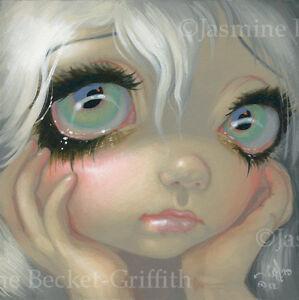Fairy-Face-195-Jasmine-Becket-Griffith-big-eye-faerie-goth-SIGNED-6x6-PRINT