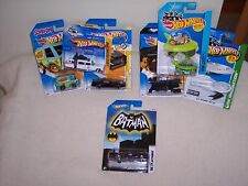 HOT WHEELS - 7 CAR LOT-JETSONS-  BAT MAN- GHOSTBUSTERS- KNIGHT RIDER- MORE- NEW