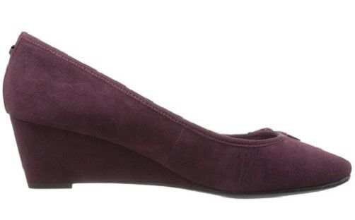 Easy Spirit Shyma wedge pumps wine suede leather leather leather heels sz 9.5 Med NEW b8faf7