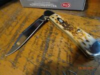 Case Xx Centerlock Ca-133 Amber Bone Pocket Knife 61479l S.s Superior Blade Edge