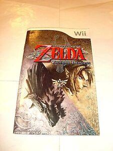 The legend of zelda: twilight princess wii game instruction manual.