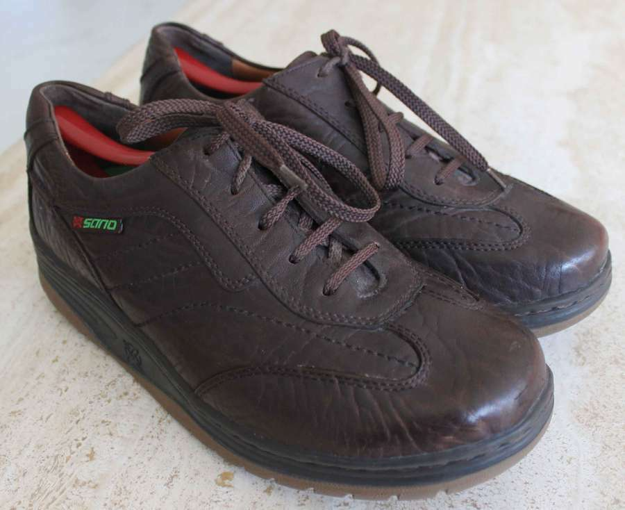 Sano By Mephisto Men's Brown Leather Walking shoes   Sneakers Sz 9.5 USA